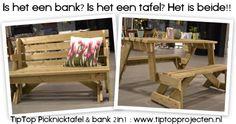 FeelGood Market online:Uitklapbare Tuinbank 2in1
