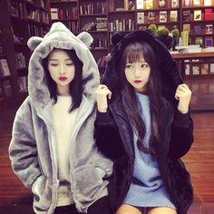 Cute kawaii bear ear hoodie coat SE10755
