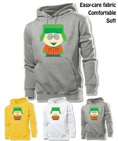 iDzn Unisex Fashion Printed Hoodie Cute Cartoon South Park Kyle Broflovski Graphic Design Pullover Casual Men Sweatshirt Tops