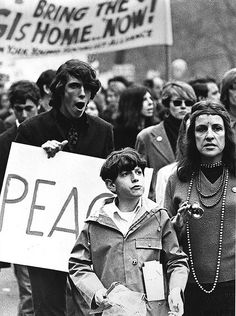 """U.S. Antiwar Protesters, NYC, 1967. """"In mid-1960s' America, a majority supported President Johnson and his policies in Vietnam. Opposition to the war had been growing . . . slowly . . . and by 1967, reached a tipping point following large antiwar protest marches in New York City, San Francisco, Washington DC and elsewhere. All of the photographs in this essay were taken at a protest march that took place in New York City on April 15, 1967"""" ( from Howard Lipan )   