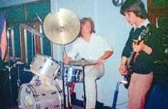 Tony Kenning (Drums) and Pete Willis 1978