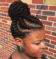 African American Braided Bun # twist Braids bun 70 Best Black Braided Hairstyles That Turn Heads Braided Bun Hairstyles, Braided Hairstyles For Black Women, African Braids Hairstyles, My Hairstyle, Black Hairstyles, Braided Updo, Black Updos, Hairstyles 2016, Spiky Hairstyles