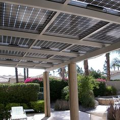 Brand New Custom Solar Patios, Sun Rooms and Carports. Have you always wanted to get solar for your home, but dont like unsightly panels on the roof. Turn your electric bill into a solar patio cover now. Backyard Canopy, Garden Canopy, Canopy Outdoor, Gazebo, Panel Solar Casa, Solar Panels For Home, Ideas Paneles, Bed Ideas, Solar Roof