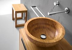 Bamboo Collection by Hastings Tiles & Bath #bathroom #home #decor #wood #wooden #sink #washbasin #design #minimal #urban