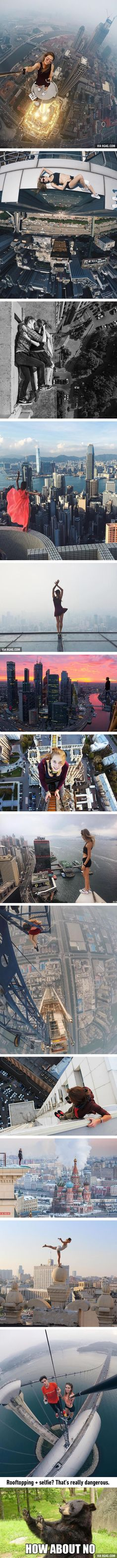 This Russian Girl Does Rooftopping And Takes The Riskiest Selfies Ever (Angela Nikolau)