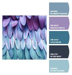 Sherwin Williams Sw6812 White Iris Sw6813 Wishful Blue