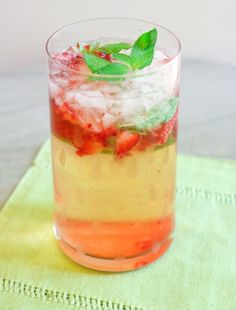 Floral Strawberry Cocktail - perfect summer drink!