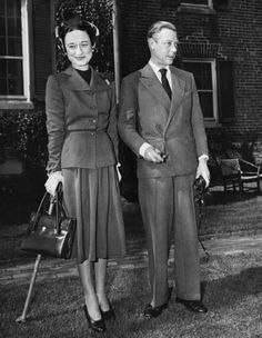 Wallis Simpson, The Duchess of Windsor tries the Post war 'New Look'.