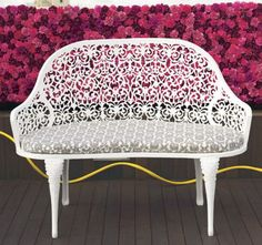 Lace is IN...try decorative accent pieces with swirling wicker or metal patterns to achieve the look.