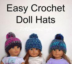 Easy Crochet Doll Hat Pattern
