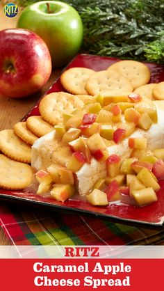 Nothing rings in the holiday season like our Caramel Apple Cheese Spread! Sauté chopped apples in butter and brown sugar. Spread mixture over cream cheese and enjoy on top of RITZ Crackers. The holidays never tasted so good.