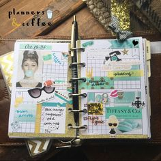 A visit to NYC isn't complete without a stop at Tiffany's #plannersandcoffee #plannerdarlingspotd #planner #planneraddict #breakfastattiffanys #tiffanys