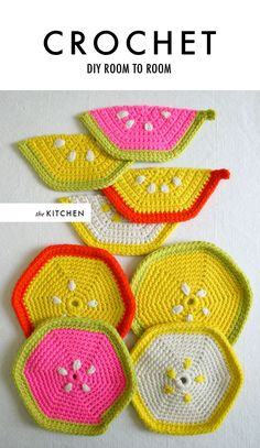 Cool crochet projects for the home.