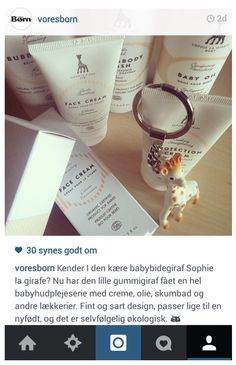 Vores Born Denmark shared the news about Sophie la girafe Baby skincare coming to Denmark - including Illums Bolighus´Kids depratment and Matas.dk.