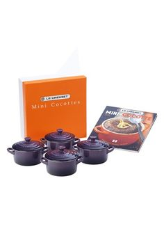 Le Creuset Four Mini Cocottes are such a cute gift for anyone who loves to cook and entertain. Perfect for parties!