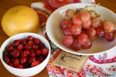 DIY cranberry anti-aging face- cranberries, grapes, grapefruit juice, and gelatin. I might have to try this one.
