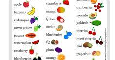 Blog dla nauczycieli języka angielskiego; gotowe materiały do prowadzenia          lekcji, pomysły, inspiracje. Blackberry, Raspberry, Strawberry, Green Grapes, Sweet Cherries, Bingo, Grapefruit, Watermelon, Banana