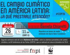 Ya puedes separar tu cupo para el segundo seminario web del ciclo ¡Hablemos del clima!, que convocamos junto a WWF. Aquí toda la información:  http://www.fnpi.org/noticias/noticia/articulo/seminario-web-el-cambio-climatico-en-america-latina-a-que-prestarle-atencion/