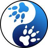 Yin yang symbol with wolf paws.   Away. Mi miss my doggies.