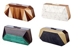 Gemstone clutches by nada saway