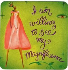 'Magnificence' Power Thought Card by Louise Hay