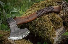 "John Neeman Carving Axe ""Robin Wood"" With Leather Inlay"