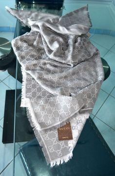GUCCI SCARF PANNO LANA SETA 140x140 Genuine scarf schal UNISEX SCIARPA ORIGINALE