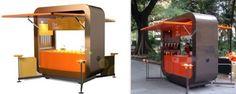 Portable/Modular Pop Up Cafe This is a concept I created as Design & Production Director at Maverick) Mobile Restaurant, Cafe Restaurant, Kiosk Design, Booth Design, Mobile Kiosk, Unique Business Ideas, Pop Up Cafe, Food Kiosk, Cafe Concept