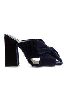 Sandalias de terciopelo   H&M