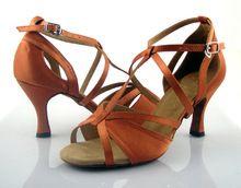 lady high heel Ballroom Latin dance Shoes,salsa dance shoes,elegant dancing shoes for women,zapatos de baile brown big size(China (Mainland))