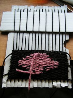 """DIY weaving tutorial. Make your own """"loom"""" and create a mini tapestry!"""