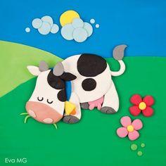 cow - plasticine: