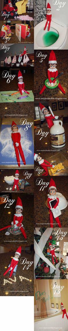 Elf on the SHelf  www.simplesideoflife.blogspot.com
