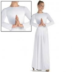 Spiritual Expressions Dance wear Worship praise Long Sleeve Leotard (Skirt not included) | ewoomall