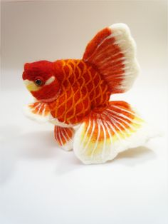 *NEEDLE FELTED ART ~ Felt goldfish14 by demetyoubi on deviantART