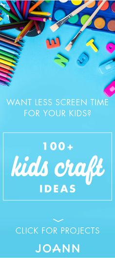 Help your kids ditch the technology and choose fun, creative activities by checking out these 100+ Kids Craft Ideas from JOANN! Screen time will be a thing of the past when they get their hands on paints, markers, and more. Learning Activities, Creative Activities, Creative Kids, Creative Crafts, Preschool Activities, Preschool Centers, Camping Activities, Family Activities, Summer Activities