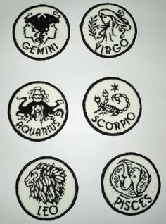 Iron-On Patch ASTROLOGICAL SIGNS by NancysPatchesandMORE on Etsy