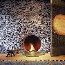 my river rock fireplace - Google Search