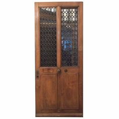 Single Antique French Door with Ironwork | 1stdibs.com