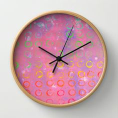 COMPLIMENTARY LOVE Wall Clock by Morgan Ralston - $30.00