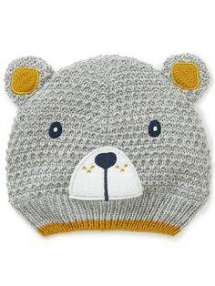 BuyJohn Lewis Baby Textured Bear Hat 977b9c879070