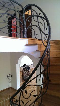 staircase railing metal art