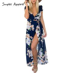 Dress, Dress Apparel v-neck floral eveningwedding party vintage maxi es