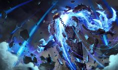 Xerath | League of Legends Xerath is an Ascended Magus of ancient Shurima, a being of arcane energy writhing in the broken shards of a magical sarcophagus. For millennia, he was trapped beneath the desert sands, but the rise of Shurima freed him from his ancient prison. Driven insane with power, he now seeks to take what he believes is rightfully his and replace the upstart civilizations of the world with one fashioned in his image.