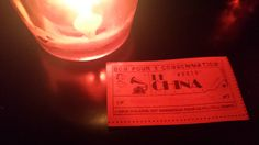 Tix given to performers @ China Club.