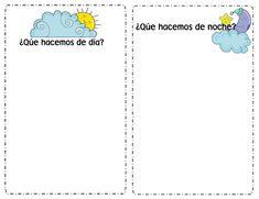 Menta Más Chocolate - RECURSOS y ACTIVIDADES PARA EDUCACIÓN INFANTIL: Conceptos temporales: DÍA Y NOCHE (Actividades)