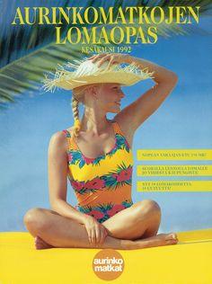 #Aurinkomatkat lomaopas kesäkausi 1992 #retro One Piece, Retro, Swimwear, Fashion, Bathing Suits, Moda, Swimsuits, Fashion Styles, Swimsuit