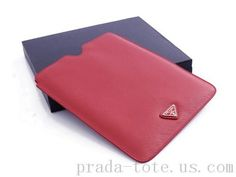 Authentic #Prada 2ARD64 Wallets in Bright Red Outlet store