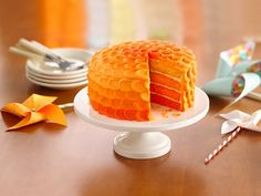 Tangerine Ombre Cake - I love this color :)