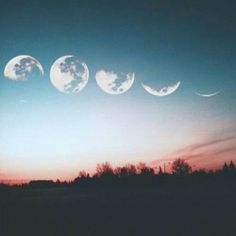 I chose this because it shows the different moon phases in one time and the moon keeps fading away the further it is
